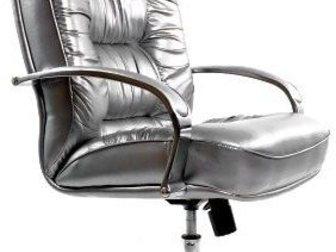 Свежее изображение Столы, кресла, стулья Кресло руководителя Болеро Хром (черная кожа) 33778916 в Уфе