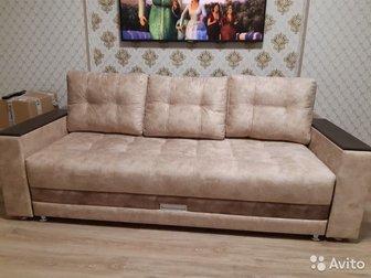 продам мягкие диваны , три штуки,   простые по пять тысяч рублей,  с подлокотникам за семь тысяч,   диваны новые , достались с квартирой,   продаю по ненадобностью, в Уфе