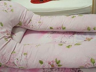 Подушка формы U,  В комплекте 2 съемные наволочки,  Немного б/уСостояние: Б/у в Уфе