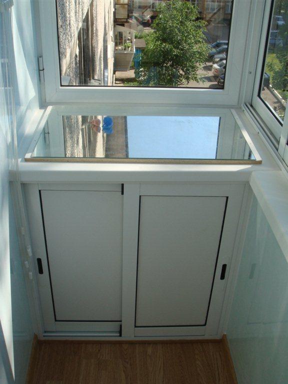 Пластиковые шкафы на балкон..