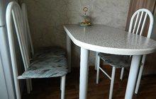 Стол обеденный + 4 металлических стула