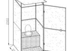 Изображение в Строительство и ремонт Строительные материалы Кабина дачного туалета. Каркас туалета выполнен в Ульяновске 8400