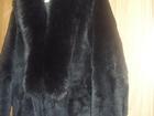 Смотреть foto Женская одежда Удлиненный полушубок черного цвета воротник из меха пестца 34468544 в Великом Новгороде