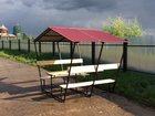 Уникальное фото Мебель для дачи и сада Беседки дачные оцинкованные и грунтованные 37711575 в Владимире