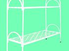Новое изображение  Двухъярусные металлические кровати для бытовок, кровати для общежитий, кровати металлические для студентов, для рабочих, 36942975 в Казани