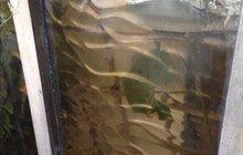 Стекло коричневое с рисунком