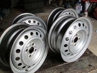 Скачать бесплатно фото Колесные диски Продаю колесные диски 6х15 4х100 диам, вн, 54,1 ЕТ43 37544493 в Волгограде