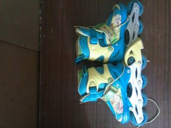 Просмотреть фотографию Другие спортивные товары Продам детские роликовые коньки барбоскины 33098609 в Воронеже
