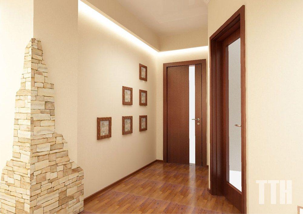 Ремонт коридора обои фото