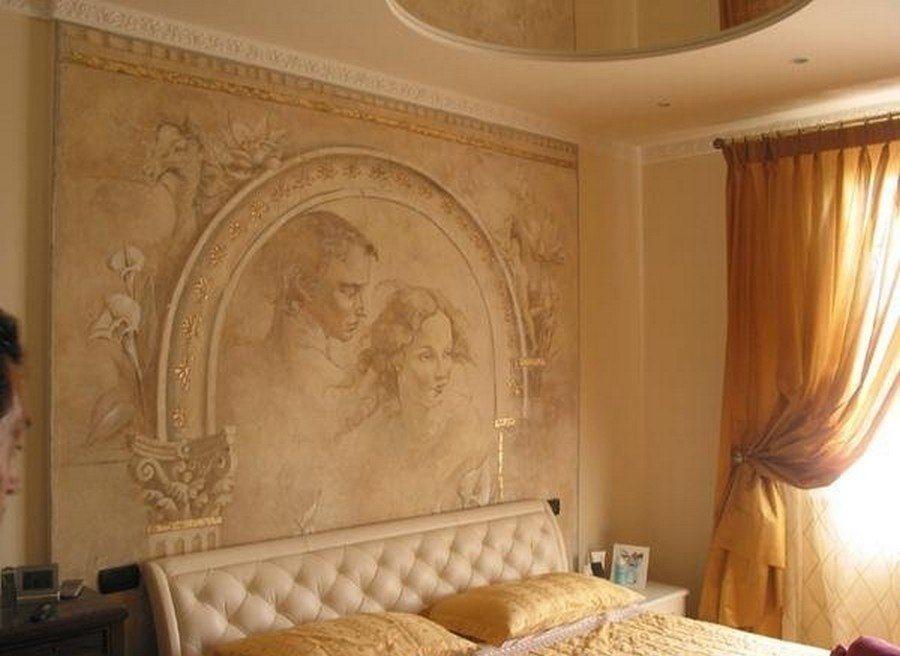 Фото дизайна венецианской штукатуркой